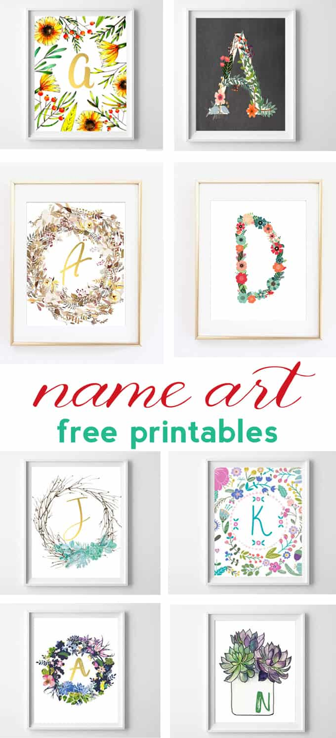 photo relating to Free Printable Decor known as Status Artwork and Alphabet Printables Free of charge Printable Artwork