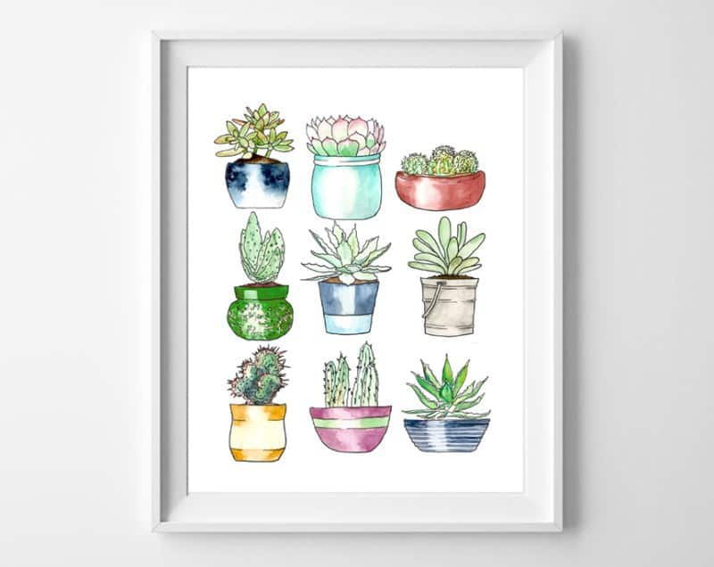 succulents free printables