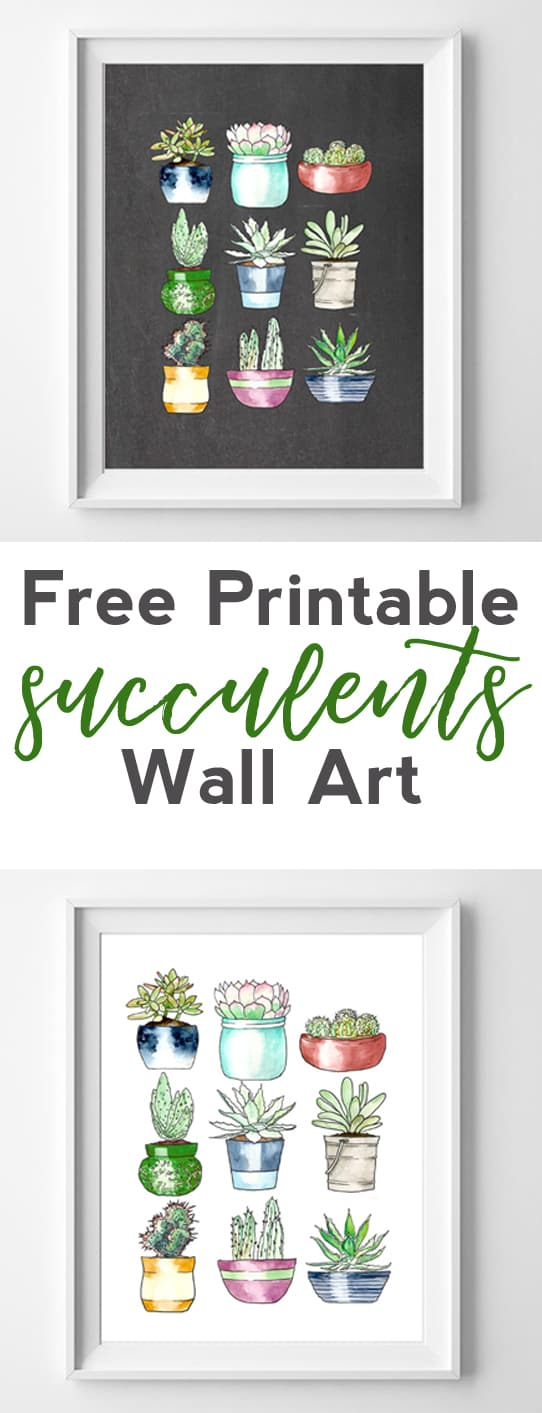 succulents free printables | printable wall art