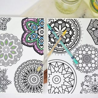 Free Mandala Coloring Pages + How I Relax With Canada Dry Ginger Ale and Lemonade™
