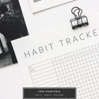 Habit Tracker Printables, Productivity Tips and Apps to Try