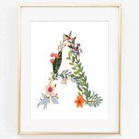 Woodland Name Art {Free Woodland Letter Printables}