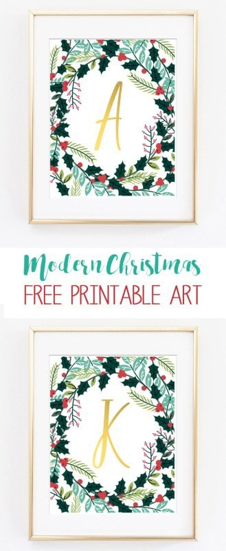 name art | christmas printables | christmas decor | wall art | initial | letter art