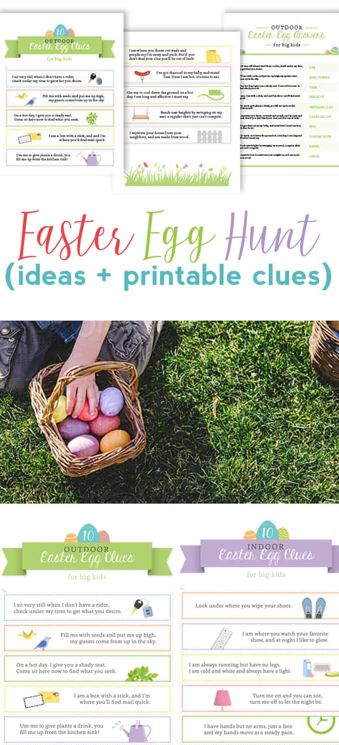 easter egg hunt ideas & clues