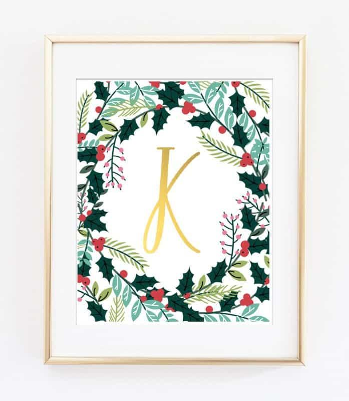 Christmas Name Art Printables