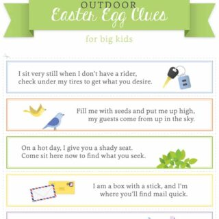 Easter Egg Hunt Ideas for Kids + Free Printable Clues