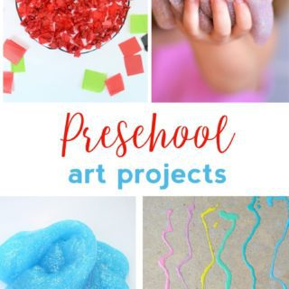 PRESCHOOL ART PROJECTS {EASY CRAFT IDEAS FOR KIDS}