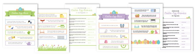graphic about Printable Easter Egg Hunt Clues known as Easter Egg Hunt Designs for Youngsters + No cost Printable Clues