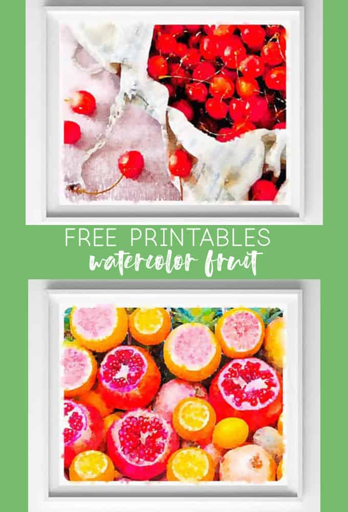 graphic relating to Free Kitchen Printables named Absolutely free Kitchen area PRINTABLES WATERCOLOR FRUIT Artwork