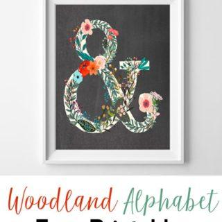 Letter Art {Woodland Alphabet Free Printables}