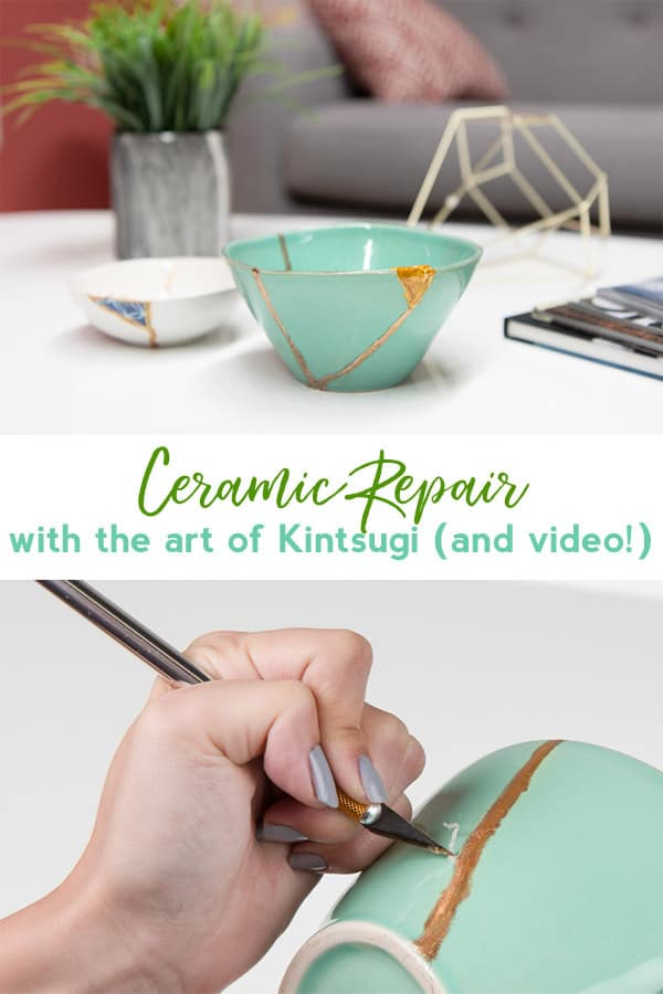 Kintsugi | ceramic repair | home decor | crafts | upcycling | vintage | home accents