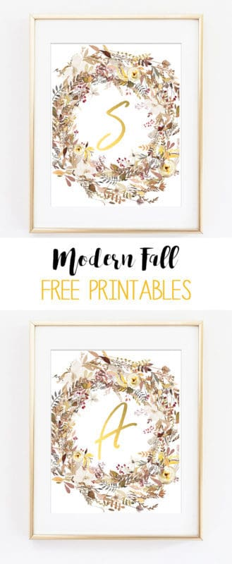 fall wreaths wall art | fall art | free printables | printable art | autumn | home decor