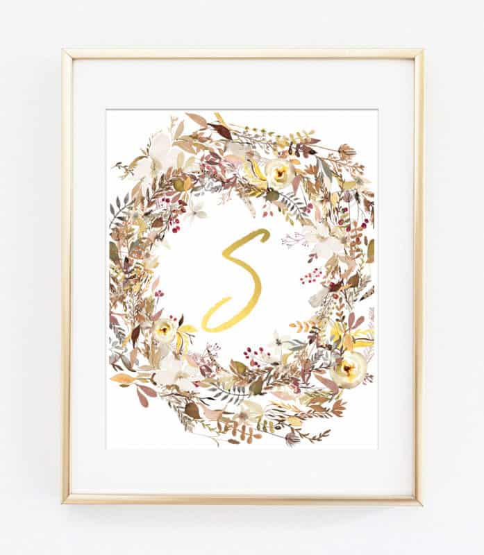 fall wreaths wall art