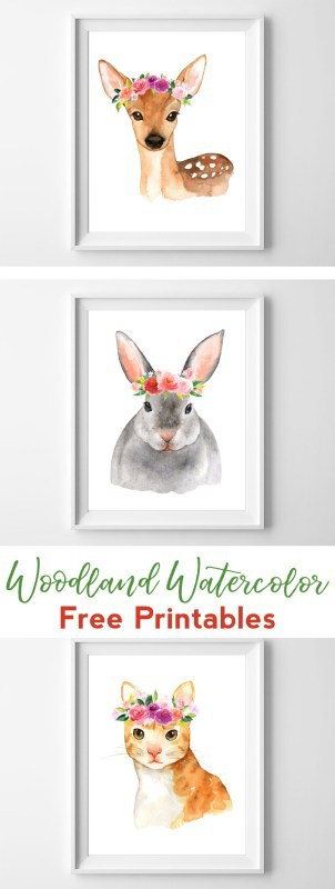 watercolor woodland | free printables | nursery printables } nursery art | wall art | wall art ideas kids