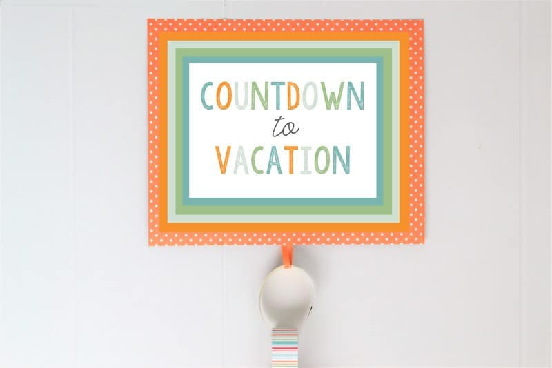 picture about Countdown Printable named COUNTDOWN In the direction of Trip Absolutely free PRINTABLES A Exciting Concept for Small children!