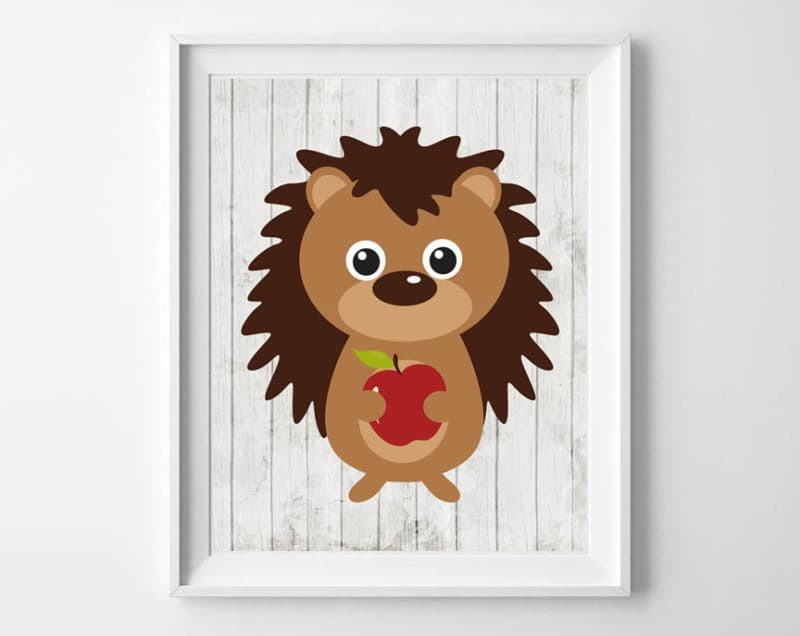 woodland animals nursery art 2