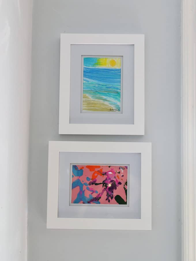 framed kids art