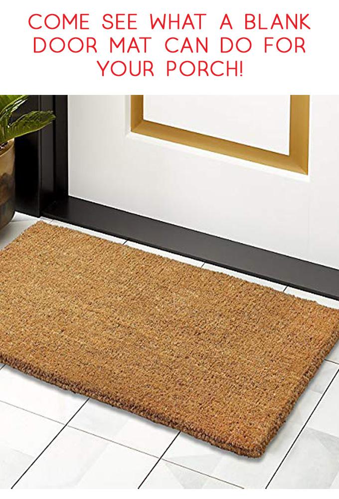 door mat | easy crafts | stencil | paint projects | door mat