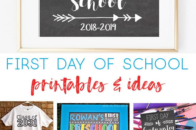 first day of school printables | first day ideas | school ideas | kids ideas