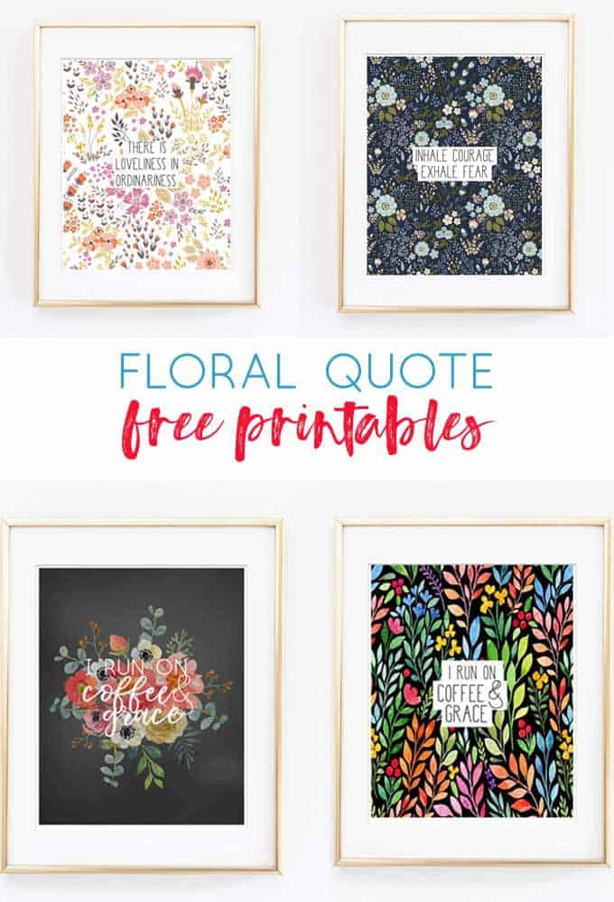 image about Free Printable Art named Floral Quotation Printables Free of charge Wall Artwork Decor