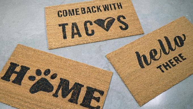 make your own doormat