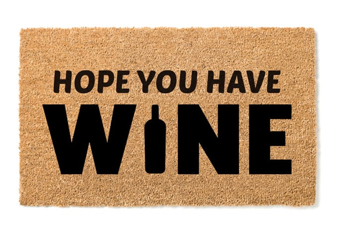 wine door mat