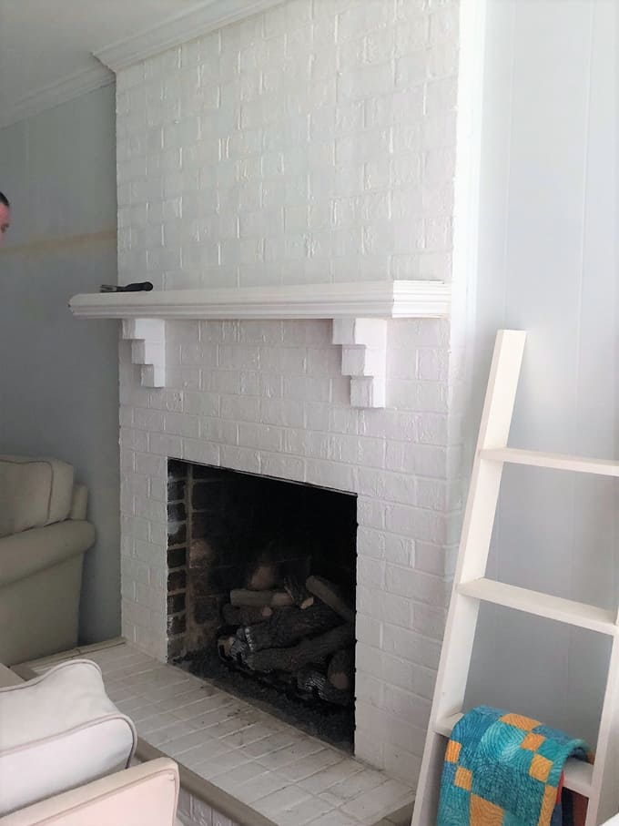 fireplace makeover 1