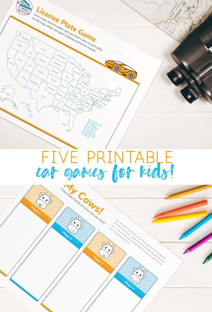 car games for kids | kids printables | road trip games | car games | summer | summer ideas for kids | free printables
