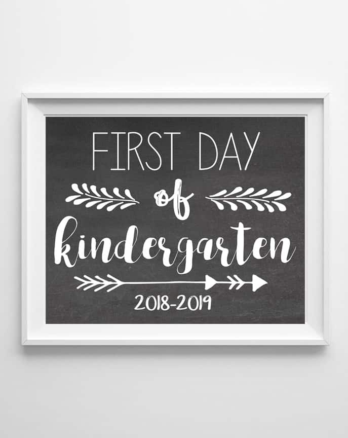 free printable first day school signs