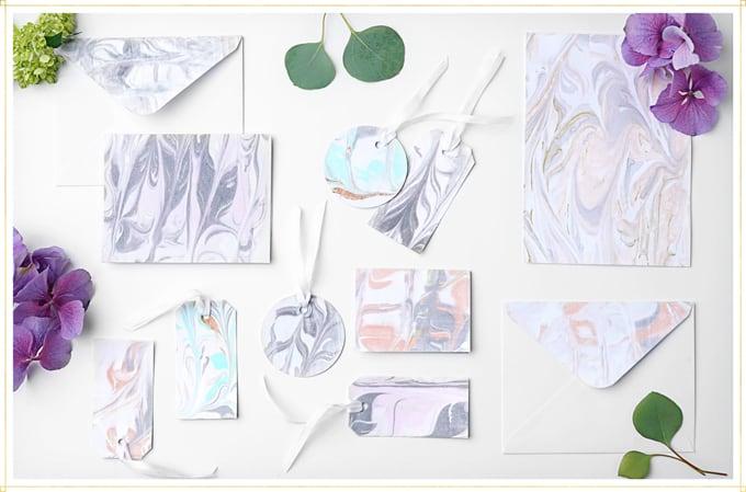 marble paper diy