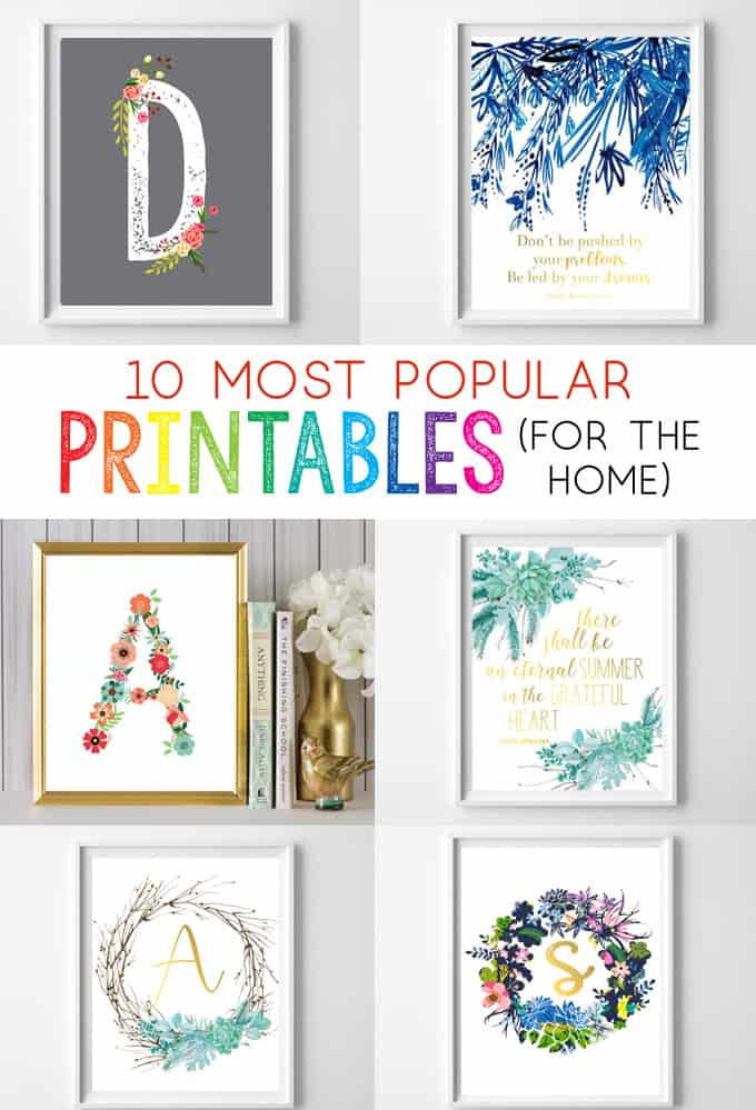 picture relating to Free Printables for Home identified as Wall Artwork Upon the Affordable! Best 10 Optimum Notable Absolutely free Printables
