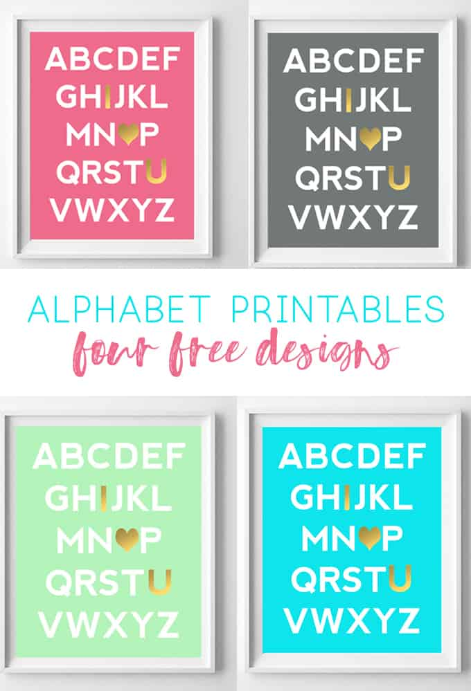 abc art nursery | alphabet printables | wall art | nursery art | pink nursery | mint decor | wall art ideas | art | girl gift | baby gift
