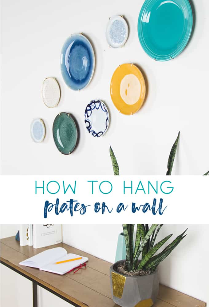 how to hang plates on a wall | decorative wall plates | plate wall | gallery wall | wall decor