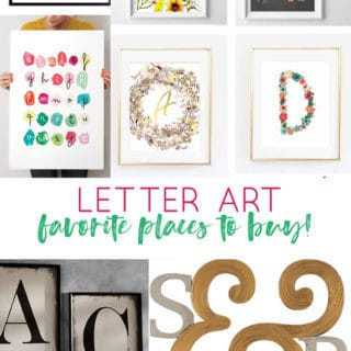 Letter Art {My Favorite Sources for Personalized Letter and Name Art}