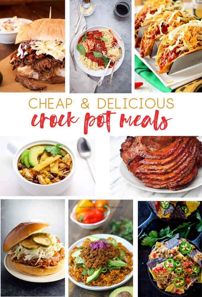 cheap crock pot meals | slow cooker | cheap meals | inexpensive meal ideas | slower cooker recipes | dinner recipes