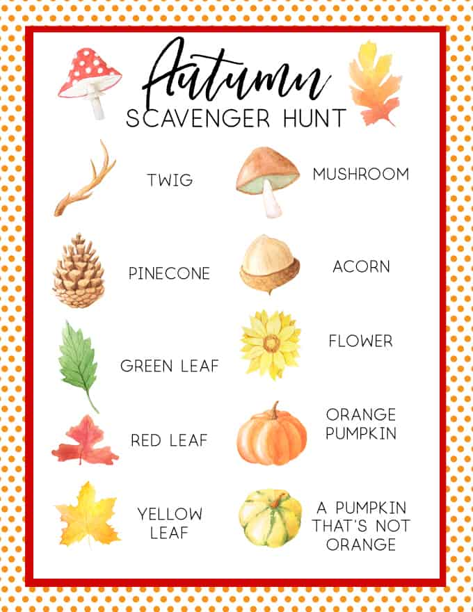 picture regarding Fall Scavenger Hunt Printable named Tumble Scavenger Hunt for Youngsters No cost Autumn Scavenger Hunt