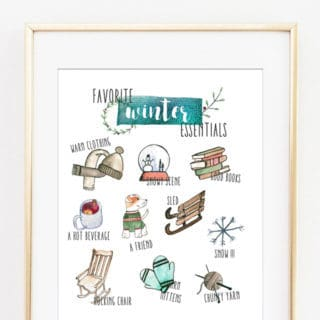 winter art printable