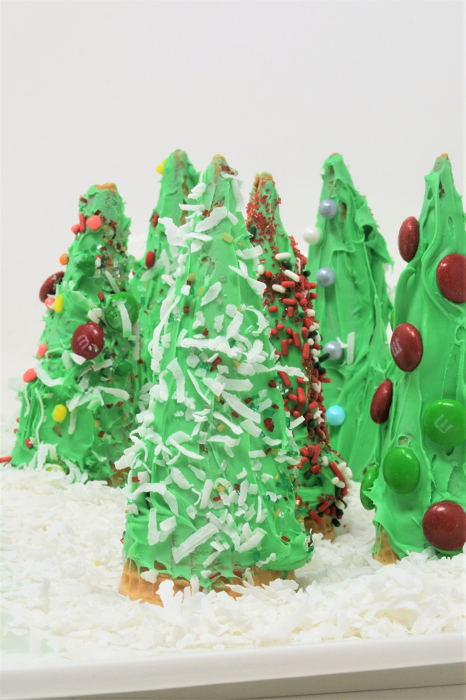 ice cream cone christmas trees 2