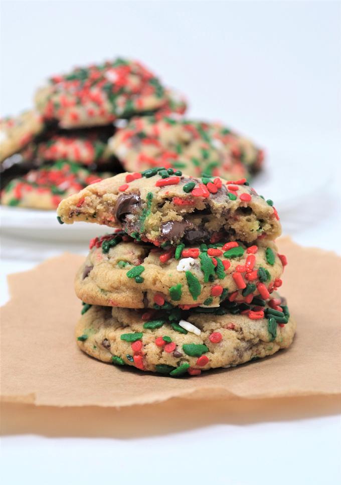 chocolate chip christmas cookies 3