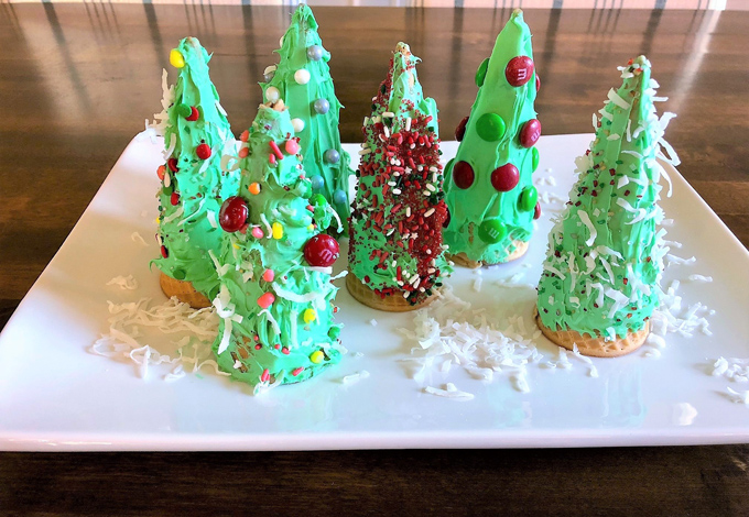 ice cream cone christmas trees 5