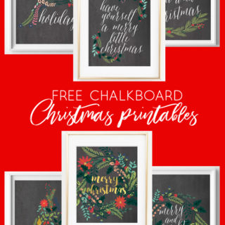 chalkboard christmas printables | free printables | christmas art | christmas printables | home decor | fixer upper | farmhouse