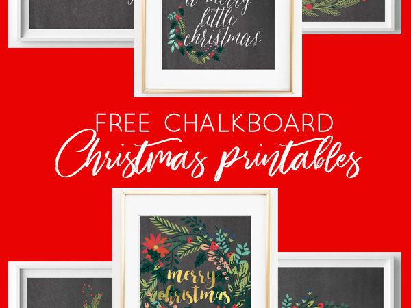 chalkboard christmas printables | free printables | christmas art | christmas printables | home decor | fixer upper | farmhouse