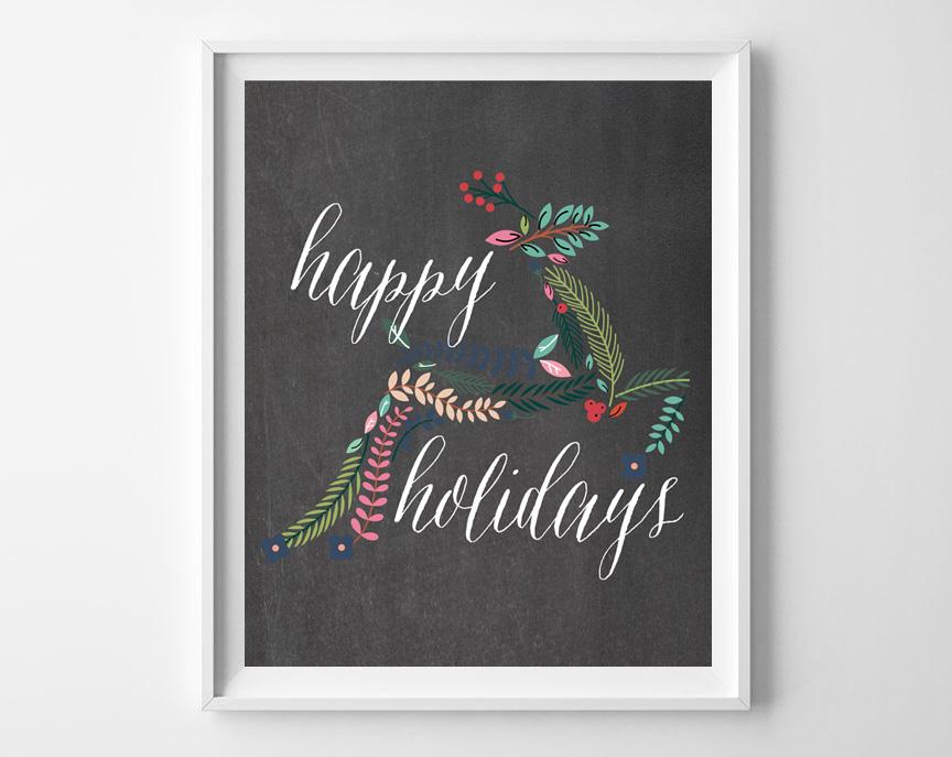 chalkboard christmas printables 2