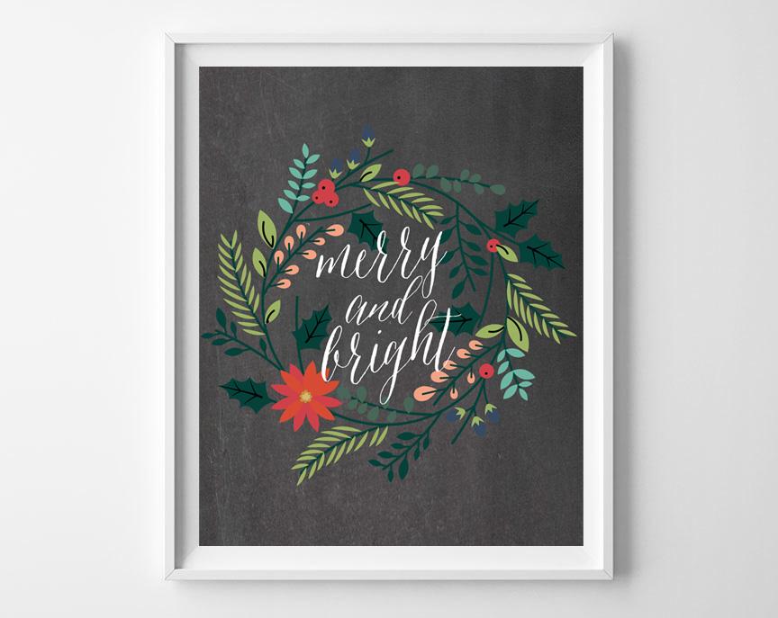 chalkboard christmas printables 5