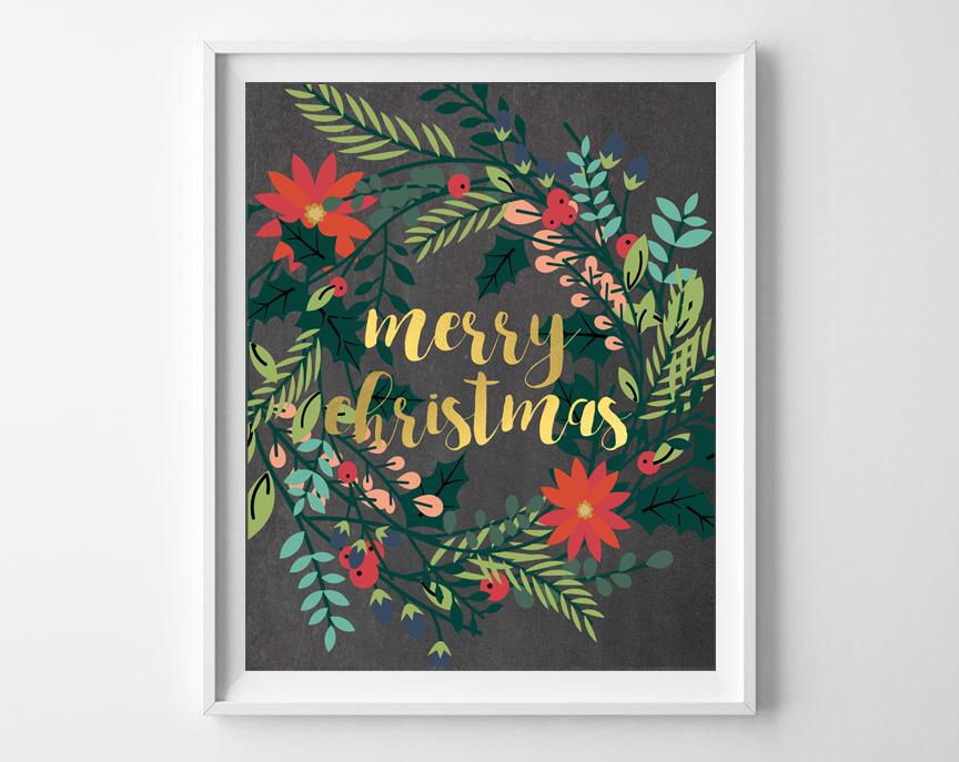 chalkboard christmas printables 6