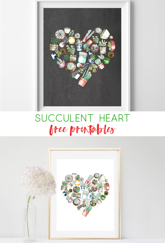 succulent wall art | free printables | wall art | cheap wall art | home decor | free prints | watercolor | succulent | flowers | art