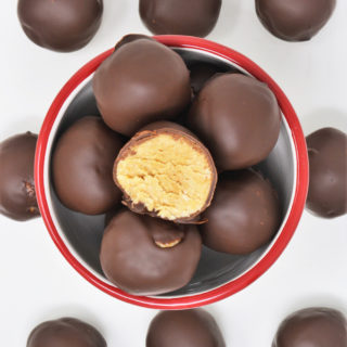 chocolate peanut butter balls 2