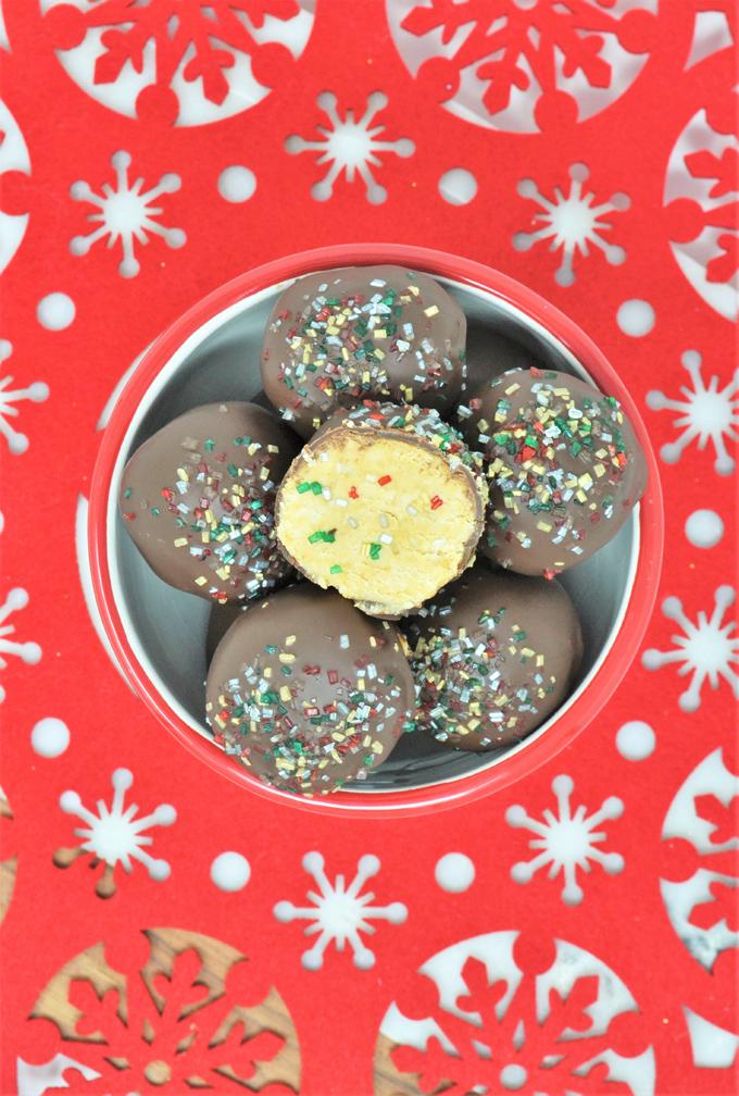 christmas peanut butter balls 3