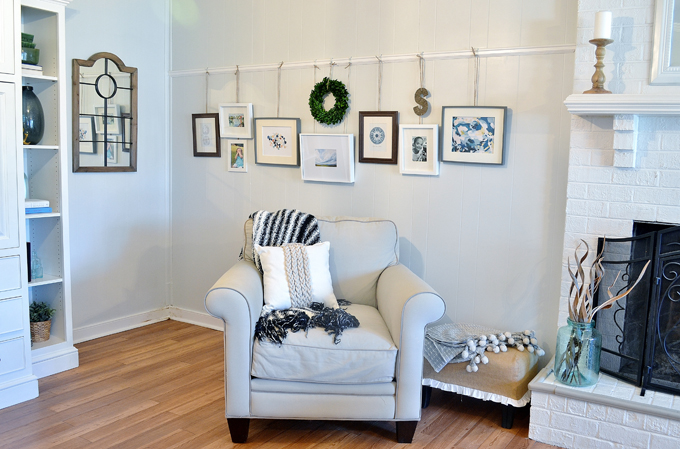 picture rail family room