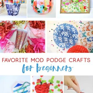 mod podge crafts | decoupage | how to mod podge | mod podge for beginners | easy crafts | kids crafts